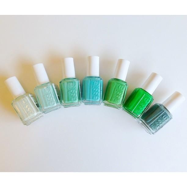 Sea of greens. | Nails | Pinterest | Esmalte, Uñas y Amor