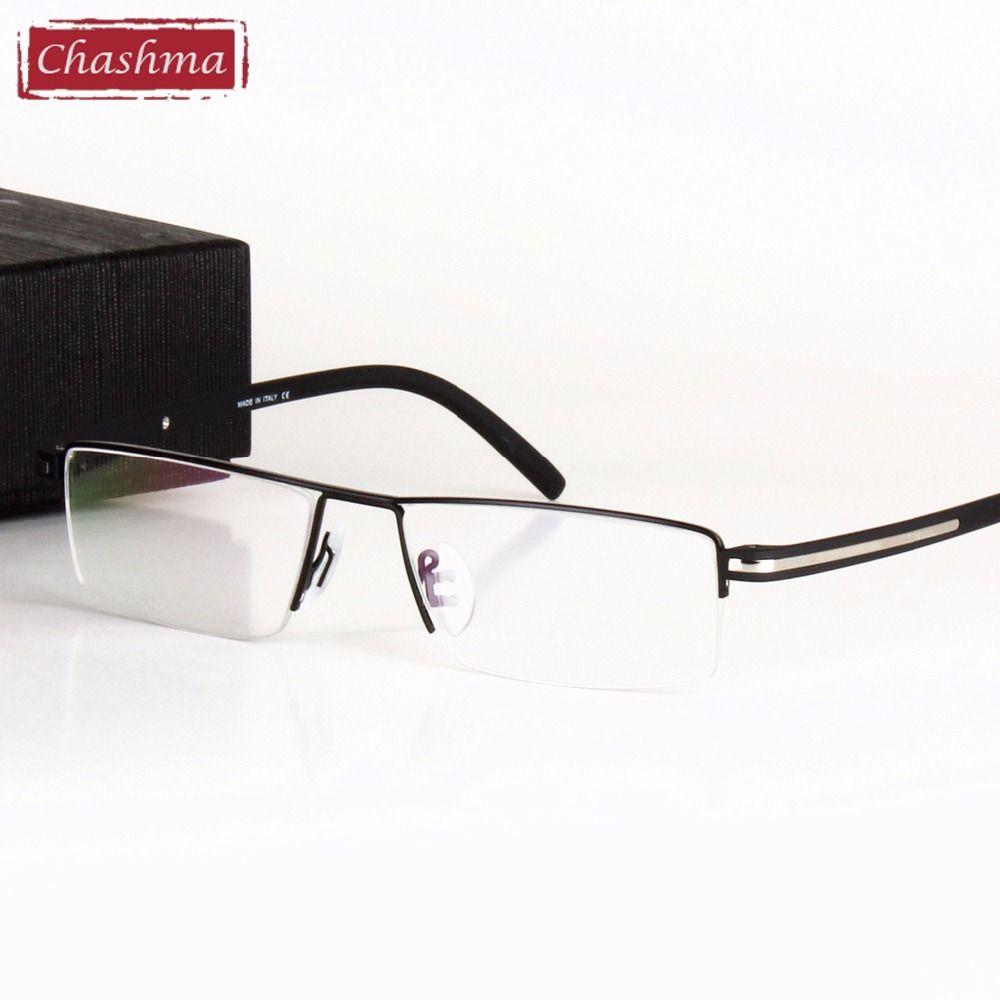 95283ded84 Chashma Classic Design Alloy Eyeglass Half Rimmed Men s Glasses Spectacle  Frame Eye Flasses Frames for Men
