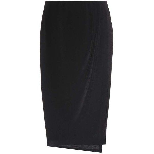 By Malene Birger Wiss Stretch-Crêpe Skirt (3 625 UAH) via Polyvore featuring skirts, black, stretchy skirts, crepe skirt, stretch skirts и by malene birger