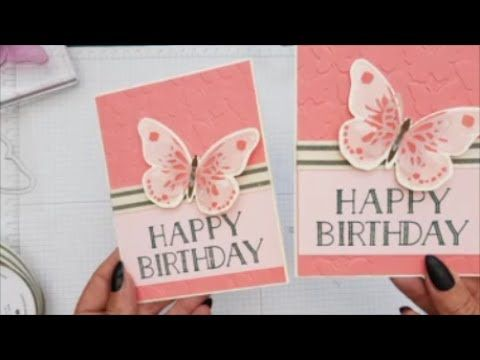 watercolor wings flutter card case card class 101 stampin up