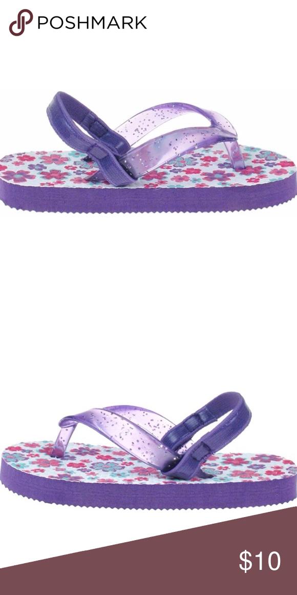 1488c458c7549f Capelli Glitter Jelly Thong Spring Blossoms PE Made in China PE sock PE  outsole Elastic Backstrap Capelli of New York Shoes Sandals   Flip Flops