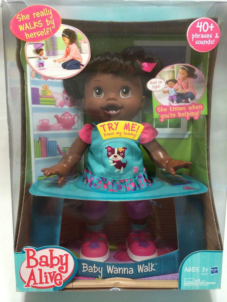 Baby Alive Black Baby Wanna Walk Doll Interactive Talk African American New Baby Alive Black Babies Dolls