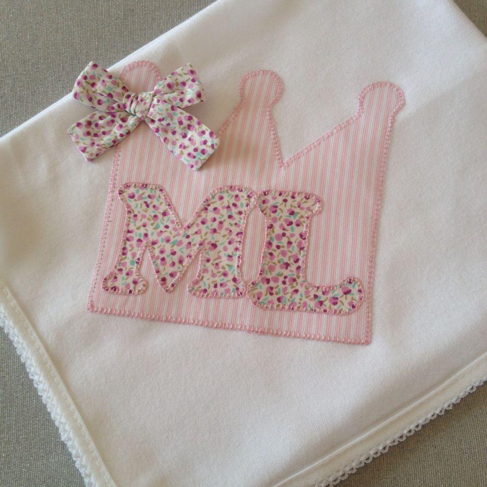 Fralda de algodão com aplicação de tecido
