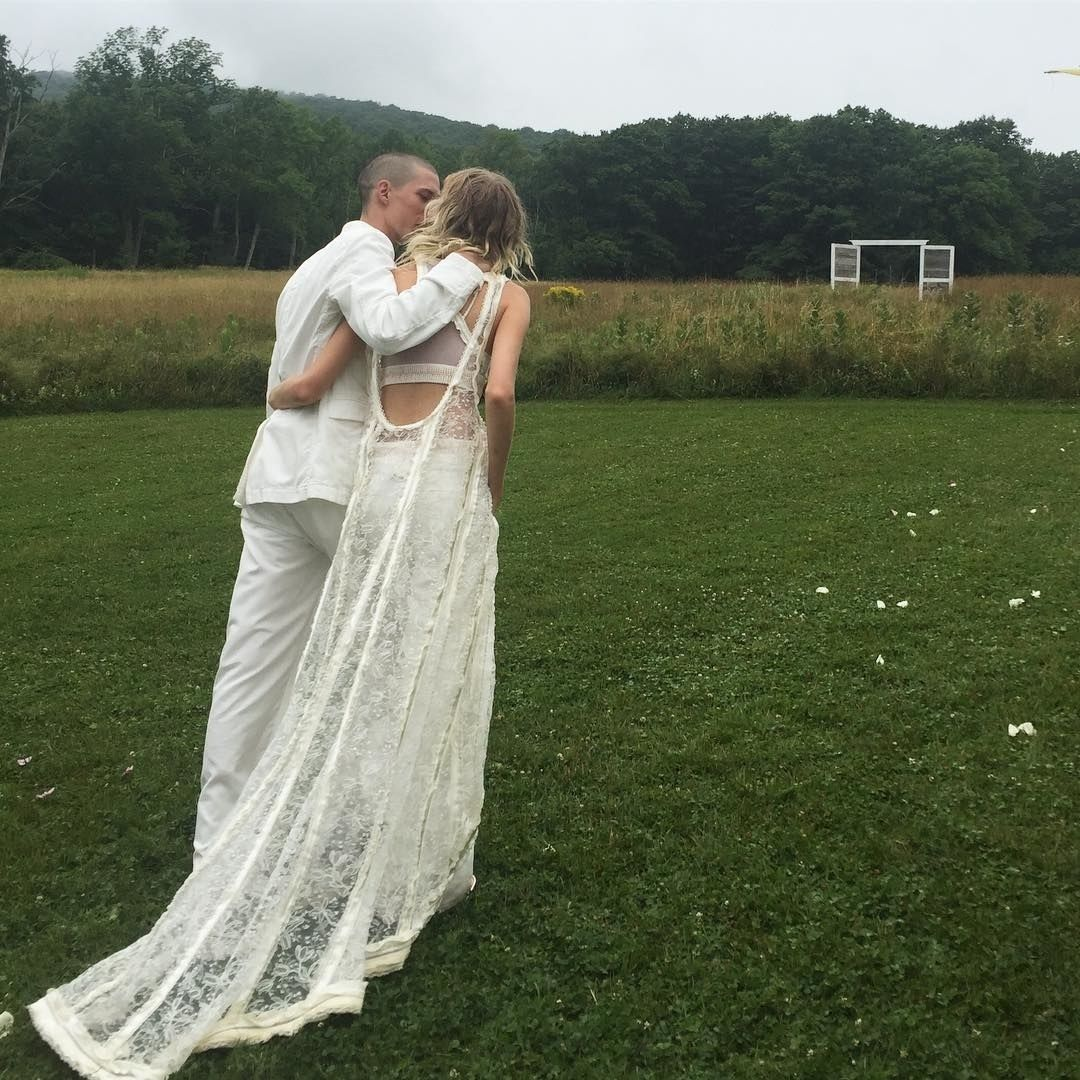 Model Hanne Gaby Odiele Gets Married In Balenciaga