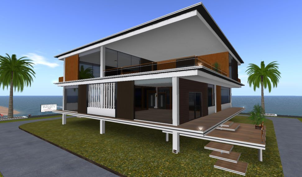Modern Stilt House Design Come With 2 Stories Home Idea And Cool Front  Wooden Terrace And Doorsteps Design. Home Design. Coureg Home Design Ideas