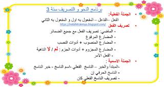ملفات رقمية كراس قواعد لغة النحو و التصريف سنة3 Bullet Journal Journal