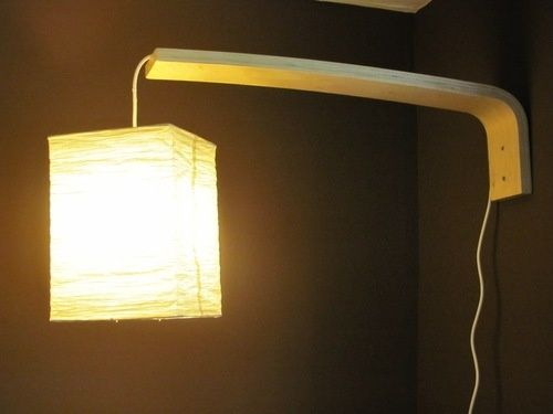 make a diy wall mounted lamp out of ikea parts lifehacker