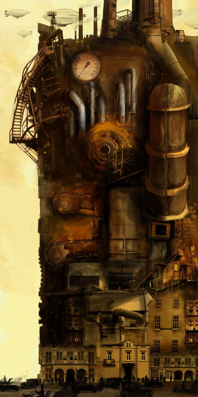 Walter stated that he enjoyed the steam factories as he sat outside staring for hours