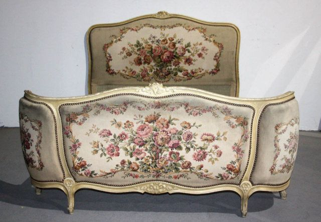 Best French Louis Xv Painted Corbeille Full Size Bed For Sale 400 x 300