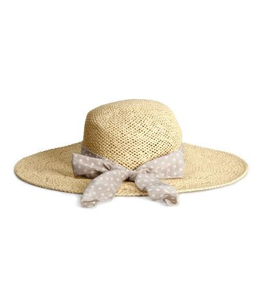 sombrero  paja  playa  pamela  lazo  H M 9 316f0ddf794