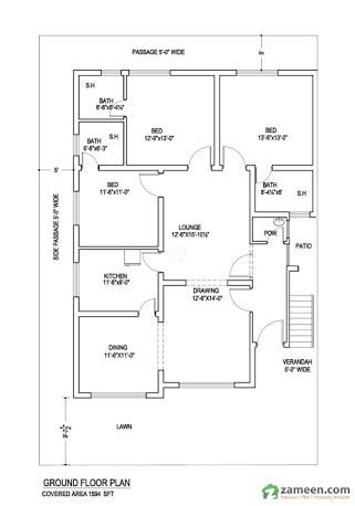 Image Result For 10 Marla House Plans Residential