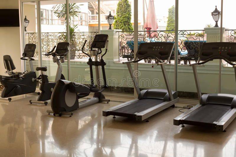 Gym at the hotel. Jogging tracks , sponsored, hotel,
