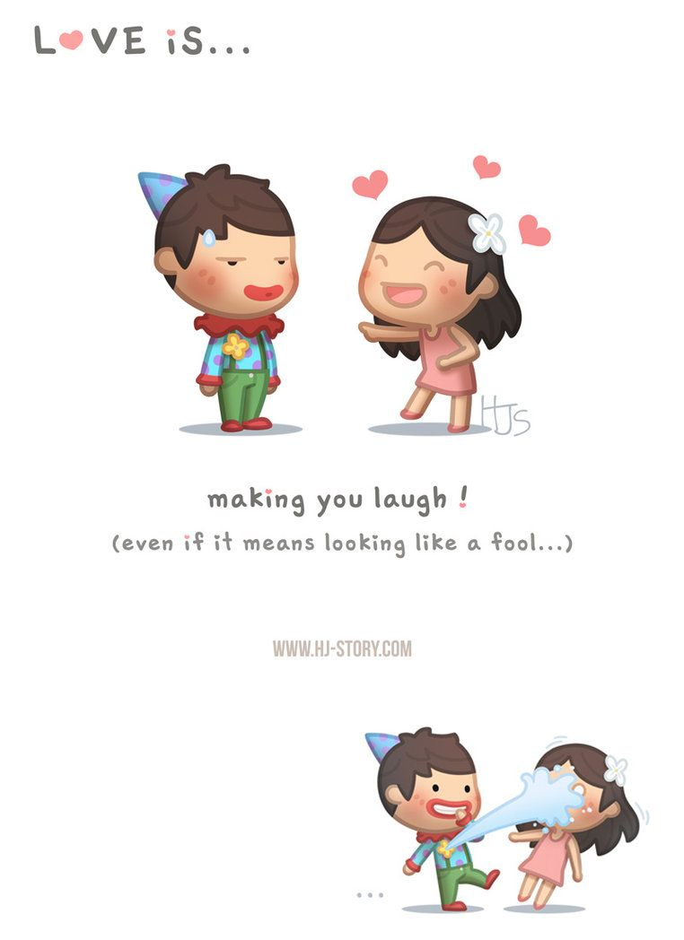 Love Is Making You Laugh Ver 2 By Hjstory Cute Cartoon Quotes Cartoon Love Quotes Cute Love Cartoons