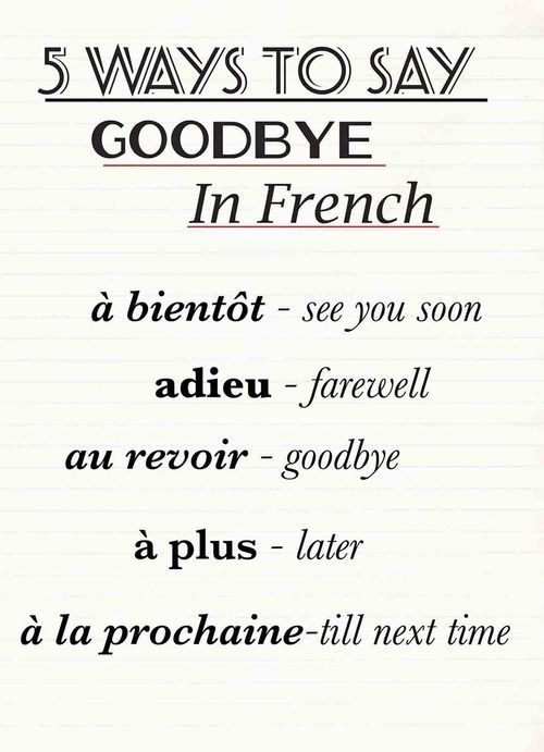 how to say left in french