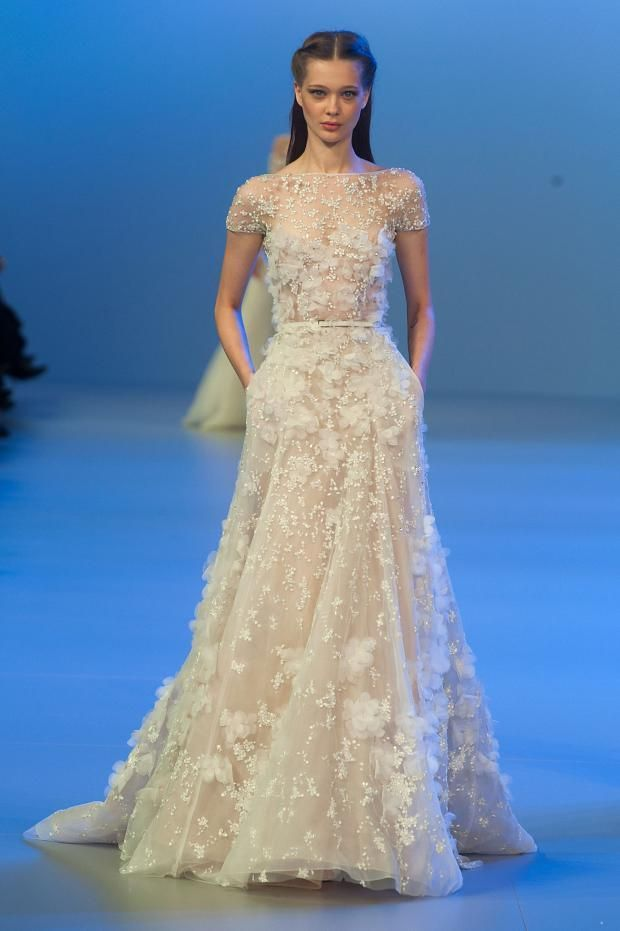 Elie Saab couture white gown spring 2014. #bridal