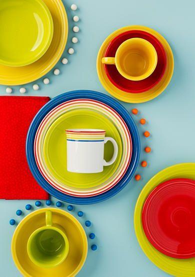 Fiesta® Dinnerware \ Rainbow\  Luncheon Plate and Java Mug with coordinating Fiesta® Dinnerware  sc 1 st  Pinterest & Fiesta® Rainbow Java Mug | Java Fiestas and Dinnerware