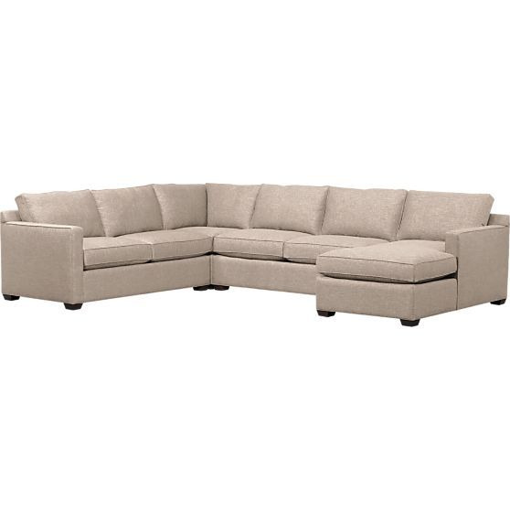 Swell Davis 4 Piece Sectional Sofa Crate And Barrel Stennas Gmtry Best Dining Table And Chair Ideas Images Gmtryco
