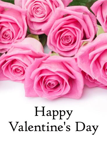 Pretty Pink Rose Happy Valentine S Day Card Birthday Greeting Cards By Davia Happy Valentines Day Card Happy Valentines Day Pictures Happy Valentines Day Photos