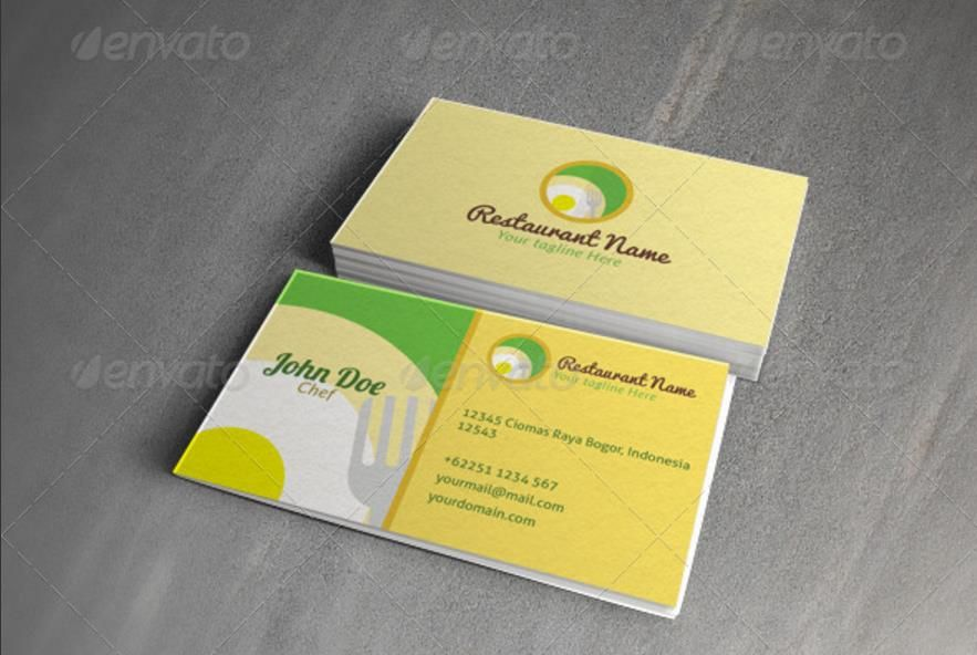 25+ Creative Restaurant business card Templates u2013 PSD,Indesign - card templates for word