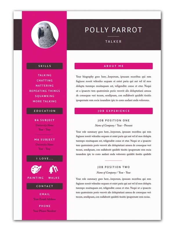 Indesign Templates  Indesign Free Cv Template And Resume Cv