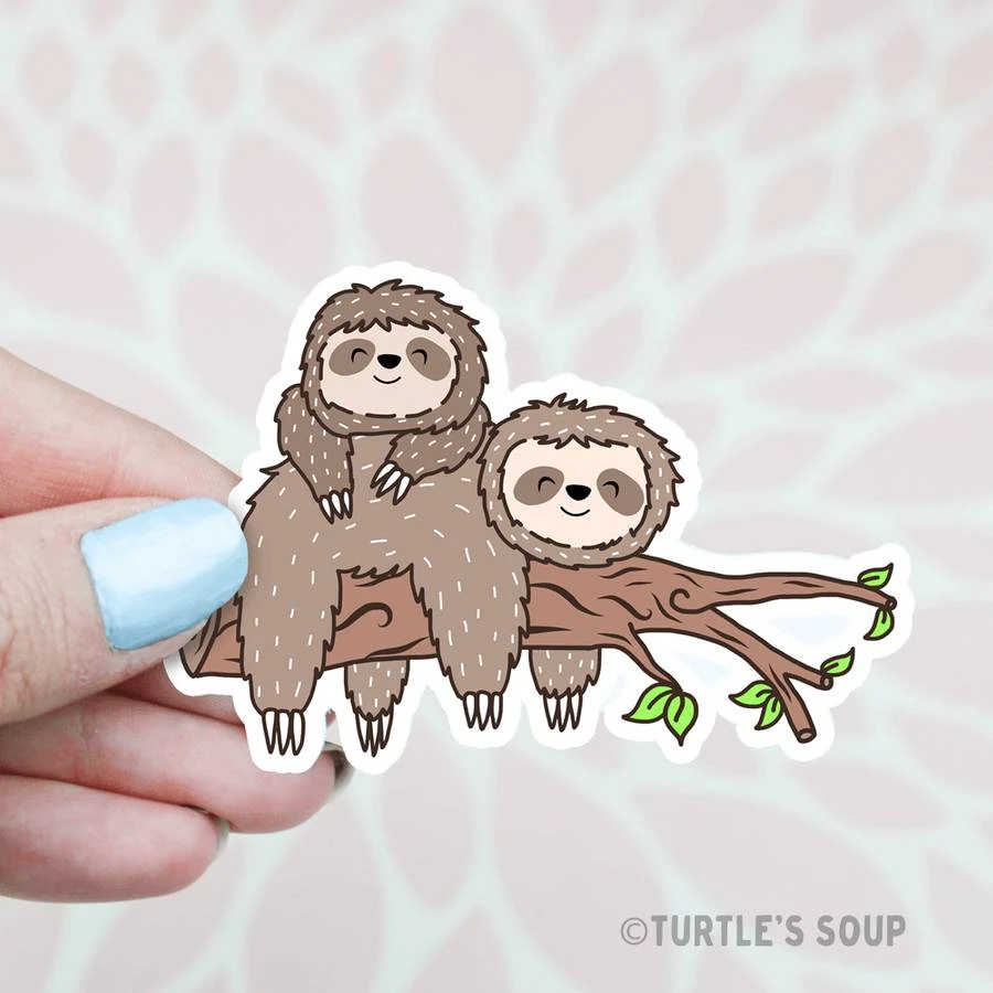 Lazy Sloths Vinyl Sticker In 2020 Cute Stickers