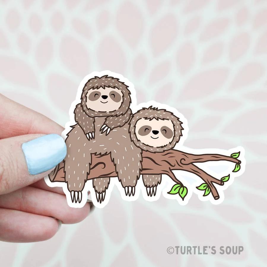 Lazy Sloths Vinyl Sticker In 2020 Cute Stickers