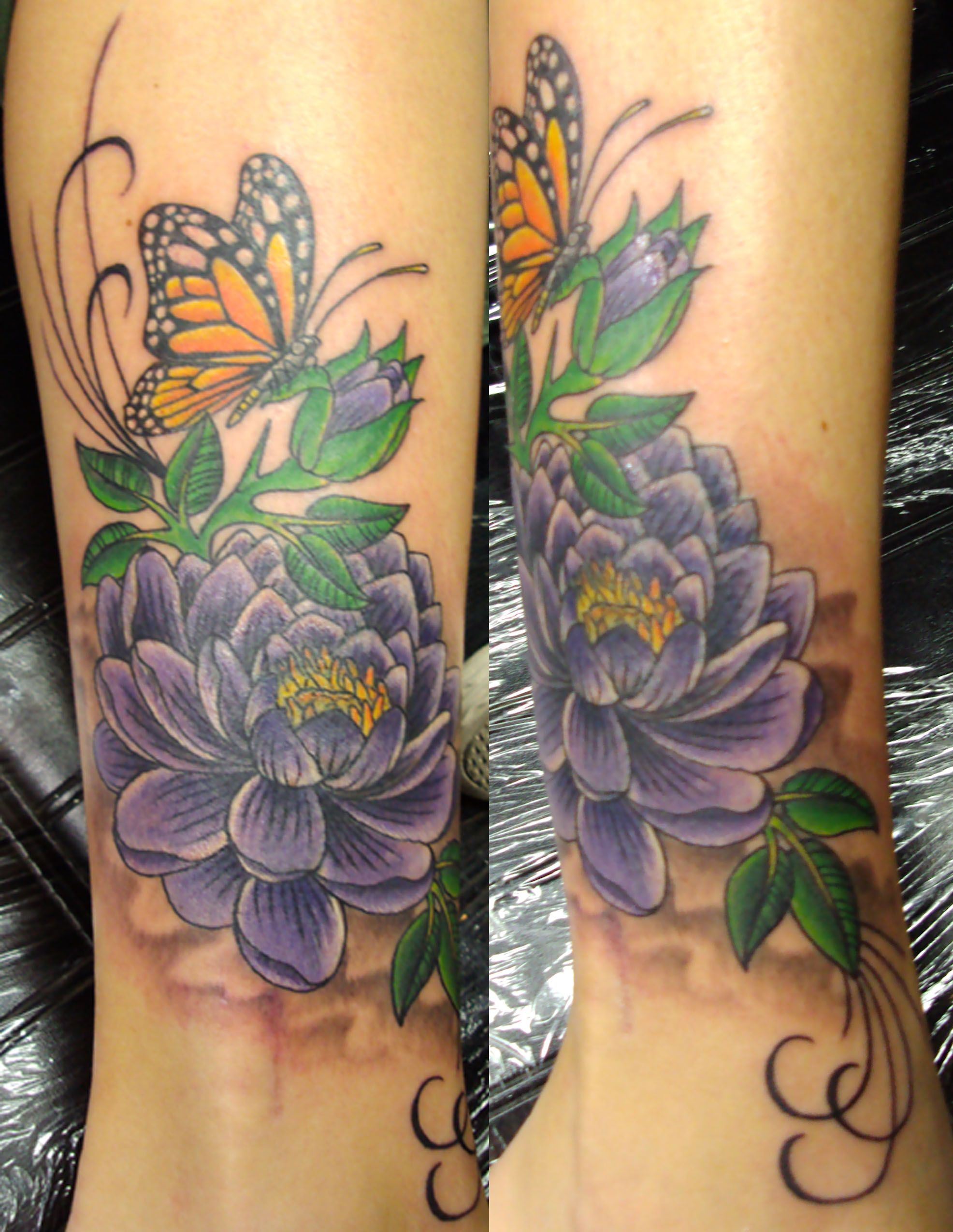 Tattoo Cover UPS   Tags Butterfly Coverup Flower   Cover ...
