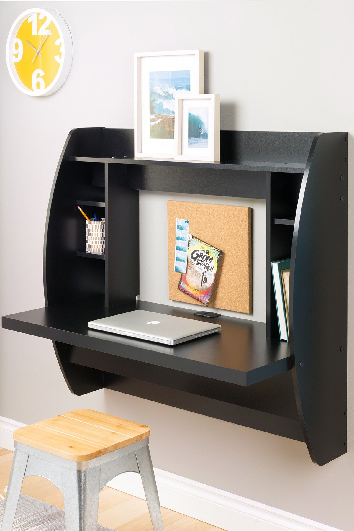 Space Saver Storage Wall Mount Desk Floating Desk Space