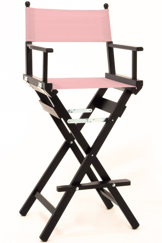 Pro Makeup Directors Chair - Personalise Online - Black Frame Pink Canvas  sc 1 st  Pinterest : pink directors chair - Cheerinfomania.Com