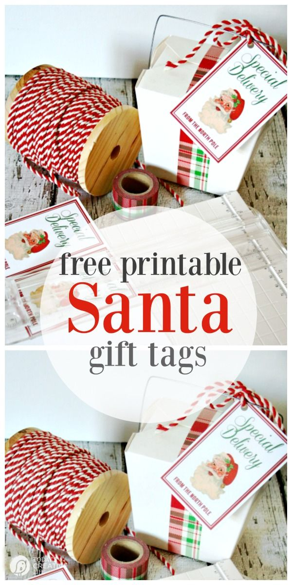 Santas special delivery printable tags printable tags special santas special delivery printable tags free printables printable gift tags holiday and christmas gift tags vintage todayscreativelife negle Choice Image