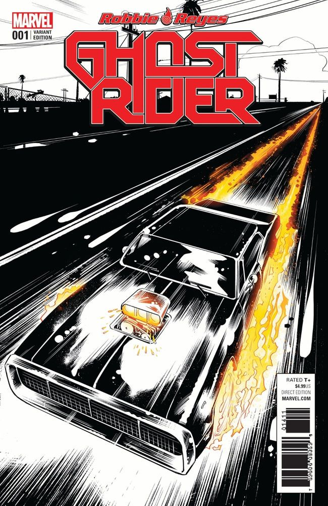 Ghost Rider #1 (2016) 1:1000 Variant Cover by Daniel Beyruth