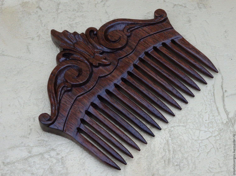 гребень из дерева для волос
