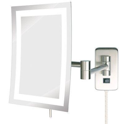 Jerdon Led Lighted Wall Mount Rectangular Makeup Mirror Wall Mounted Mirror Wall Mounted Makeup Mirror Lighted Wall Mirror
