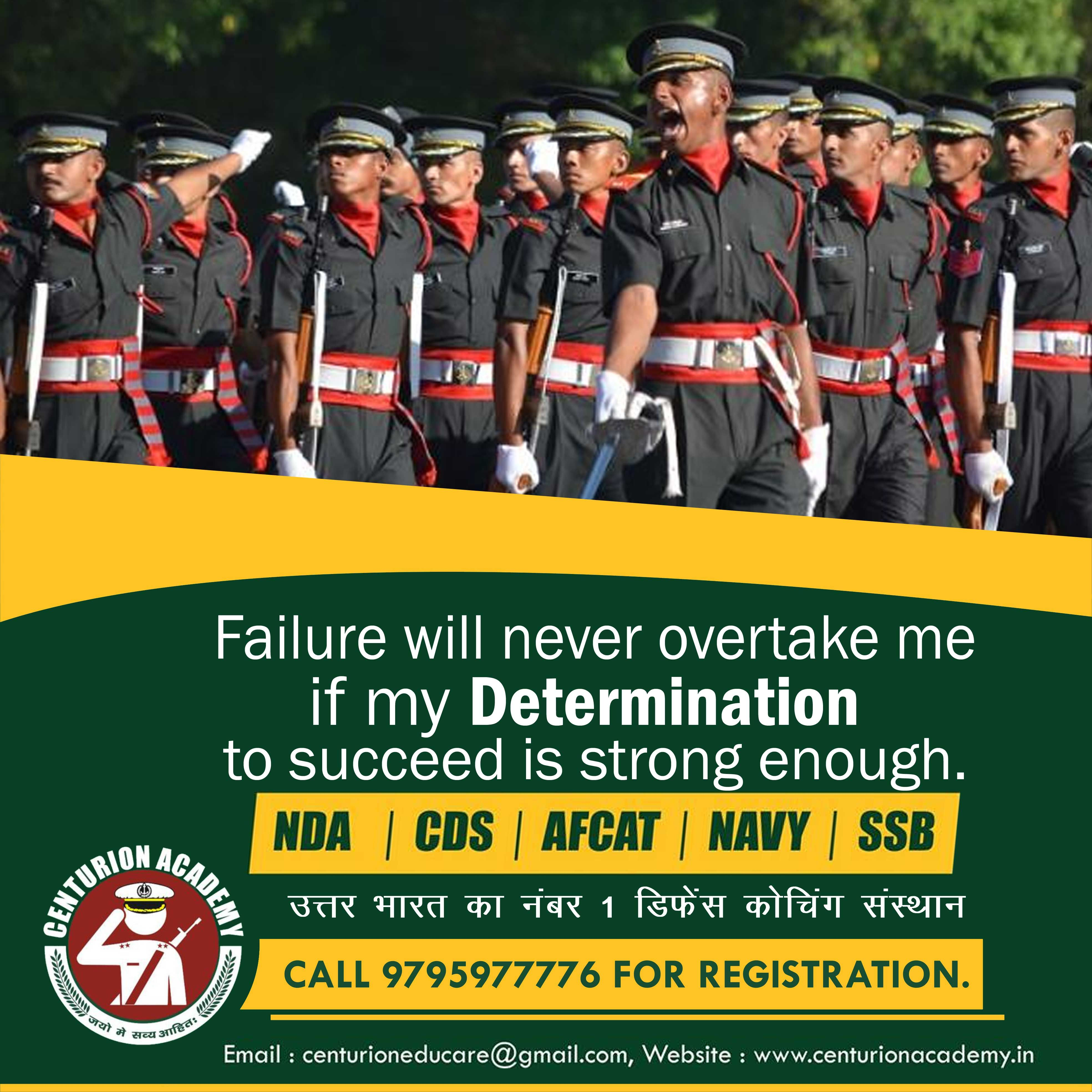 Failure will never overtake me, if my Determination to
