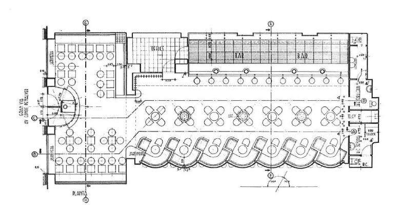 plano planta bar planos de antros pinterest