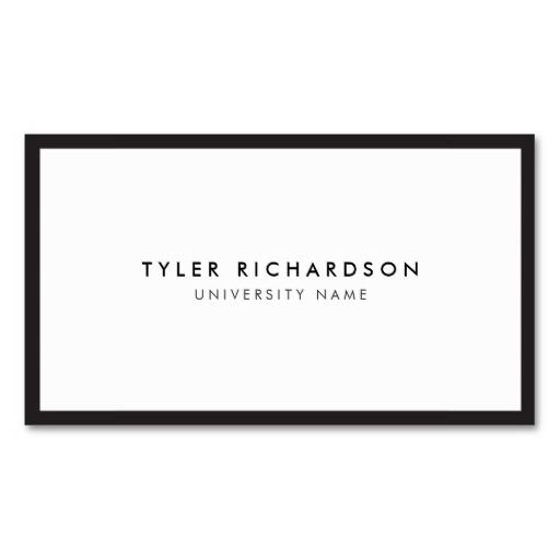 Classic graduate student business card pinterest business cards classic graduate student business card template personalize the front and back with your own info modern and refined first impression for networking fbccfo Gallery