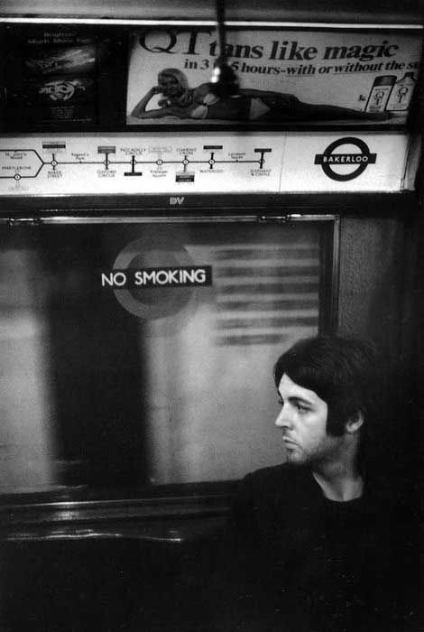 Paul on the tube