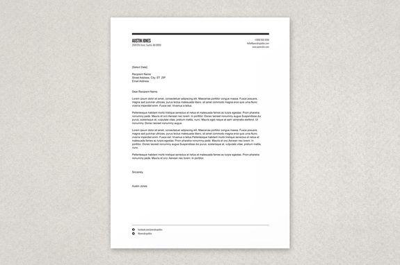 Modern Versatile Letterhead Template - A clean yet stylized ...
