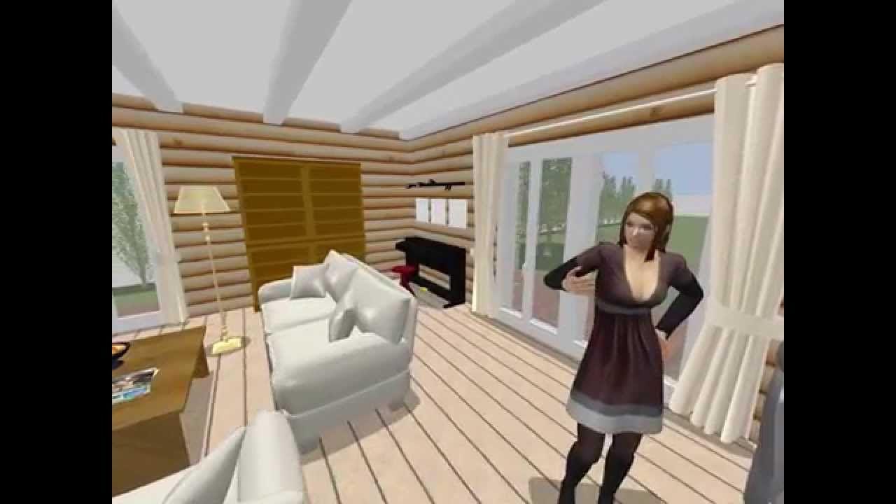 150715 Blockhaus Bungalow -- erstellt mit Sweet Home 3D | Holzhaus ...