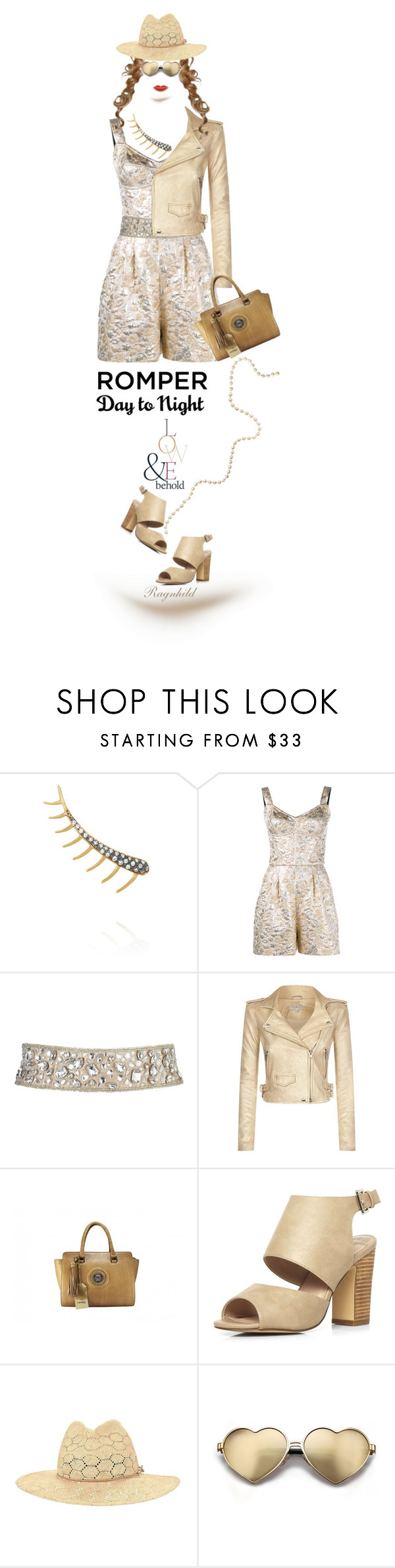 """""""Day to Night: Rompers"""" by ragnh-mjos ❤ liked on Polyvore featuring Ileana Makri, Dolce&Gabbana, IRO, Dorothy Perkins, ASOS, rag & bone, Wildfox and Georgia Perry"""