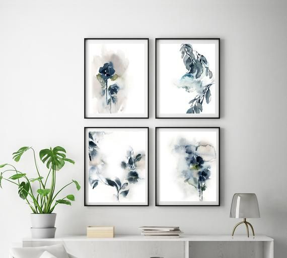 Abstract Florals Print Gallery Wall 4 Fine Art Prints Etsy In 2021 Etsy Art Prints Gallery Wall Gallery Wall Artwork