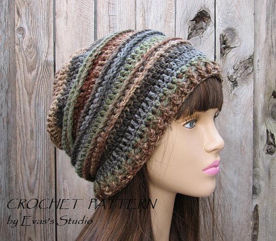 Crochet Hat Slouchy Hat Crochet Pattern PDFEasy por EvasStudio ...