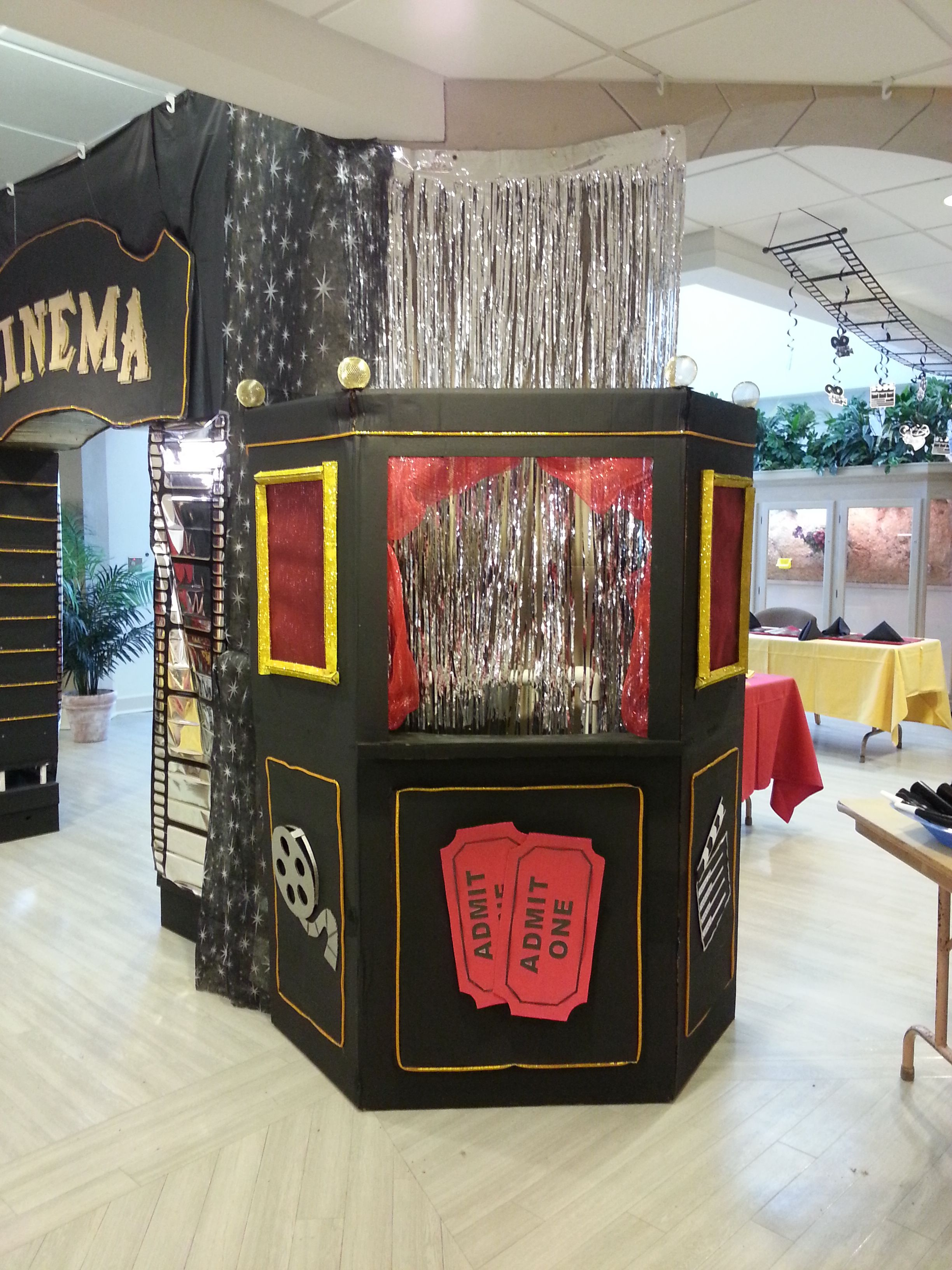 movie ticket booth made out of a refrigerator box in 2019 ...