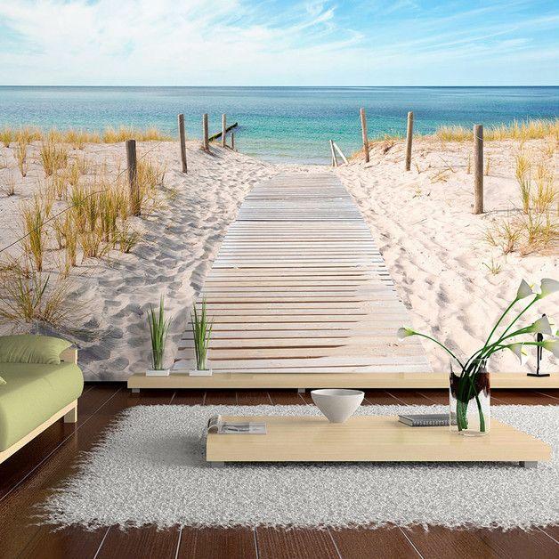 amazing kuhle startseite dekoration modernen luxus fototapeten landschaften #1: Tapeten - Vlies fototapete 350x245 Natur Meer c-A-0054-a-b - ein  Designerstück von