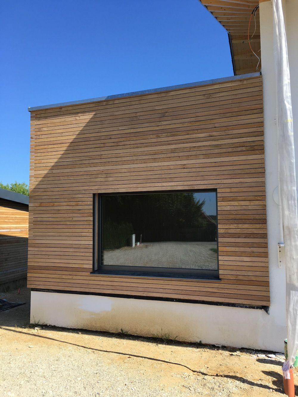 Kein Versatz Ganze Langen Rhombusleisten Rhombus Fassade Eiche Holz Fassade