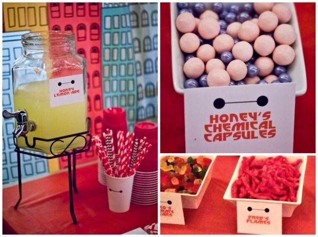 Honey's Chemistry Capsules and Honey Lemonade for Big Hero 6 party. #Bighero6movienight #cbias #ad