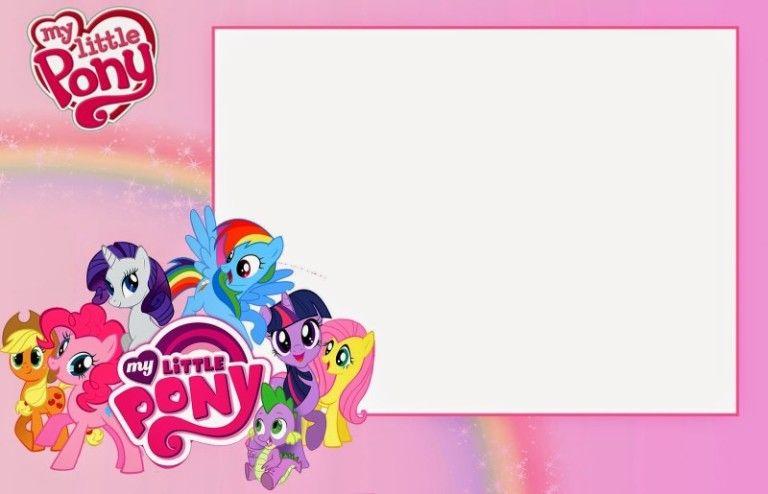 My Little Pony Invitation Template For Girls Ulang Tahun Seni Kertas Gambar Kuda