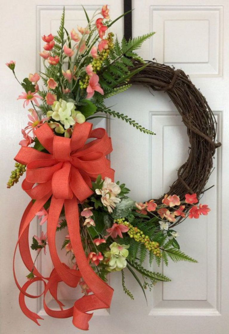 Photo of 18 Beautiful Spring Wreath Ideas For Front Door Decoration