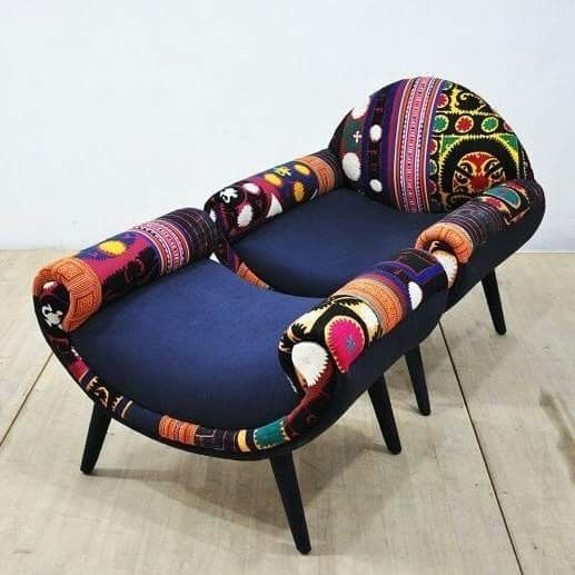 African inspired chair diyfunkyhomedecor is part of Funky home decor -