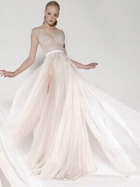 Image Result For Sheer Bridal Gown
